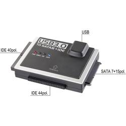 SATA, IDE, USB konvertor Renkforce RF-3833988, 1.2 m, černá