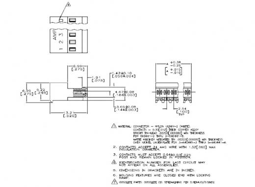 TE Connectivity Buchsenleiste (Standard) MTA-100 Polzahl Gesamt 3 3-640441-3 1 St.