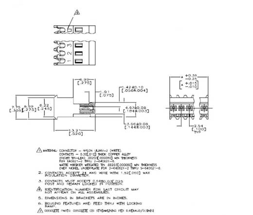 Buchsenleiste (Standard) MTA-100 Polzahl Gesamt 6 TE Connectivity 3-643814-6 1 St.