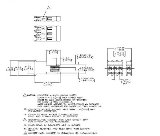 TE Connectivity 3-640621-4 Buchsenleiste (Standard) MTA-100 Polzahl Gesamt 4 1 St.