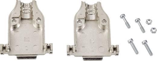 D-SUB Gehäuse Polzahl: 15 Kunststoff, metallisiert 180 ° Silber TE Connectivity AMPLIMITE HD-20 (HDP-20) 1 St.