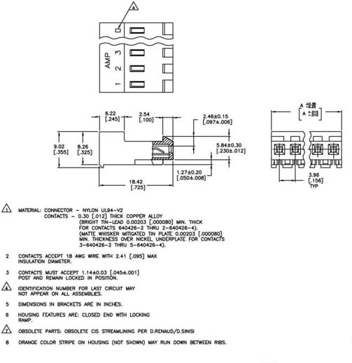 Buchsenleiste (Standard) MTA-156 Polzahl Gesamt 3 TE Connectivity 3-640426-3 1 St.