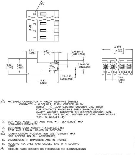 Buchsenleiste (Standard) MTA-156 Polzahl Gesamt 2 TE Connectivity 3-640429-2 1 St.