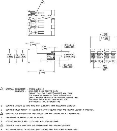 Buchsenleiste (Standard) MTA-156 Polzahl Gesamt 2 TE Connectivity 3-640601-2 1 St.