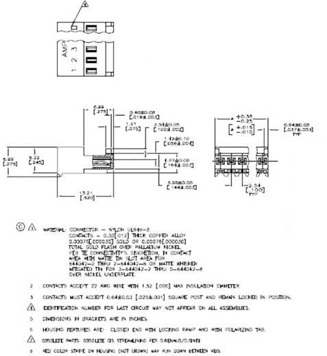 Buchsenleiste (Standard) MTA-100 Polzahl Gesamt 3 TE Connectivity 3-640442-3 1 St.