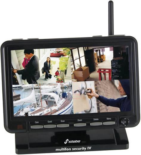 Funk-Überwachungs-Set 4-Kanal mit 1 Kamera 720 x 480 Pixel 2.4 GHz Stabo Security IV 51086