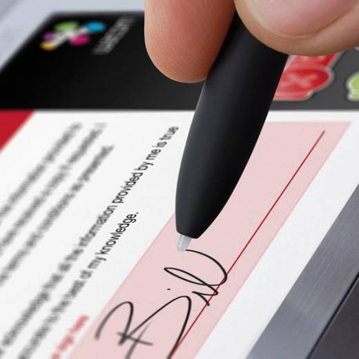 USB-Grafiktablett Wacom Signature Set STU-530 + sign pro PDF Silber