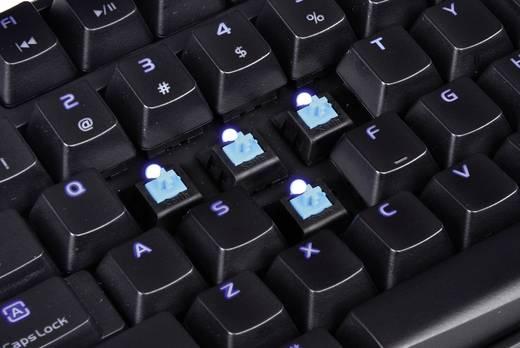 USB-Gaming-Tastatur TT eSports Poseidon Z Illuminated - Blue Switch Beleuchtet, USB-Anschluss Schwarz