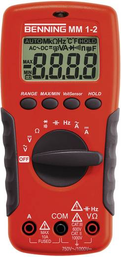 Hand-Multimeter digital Benning MM 1-2 Kalibriert nach: DAkkS CAT II 1000 V, CAT III 600 V Anzeige (Counts): 2000