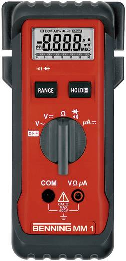 Hand-Multimeter digital Benning MM 1 Kalibriert nach: ISO CAT III 600 V Anzeige (Counts): 3200