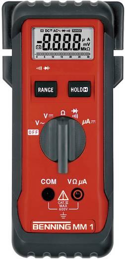 Hand-Multimeter digital Benning MM 1 Kalibriert nach: Werksstandard (ohne Zertifikat) CAT III 600 V Anzeige (Counts): 3