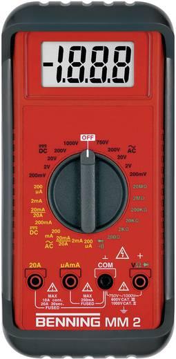 Hand-Multimeter digital Benning MM 2 Kalibriert nach: ISO CAT II 1000 V, CAT III 600 V Anzeige (Counts): 2000