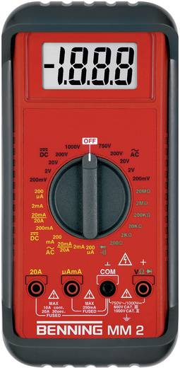 Hand-Multimeter digital Benning MM 2 Kalibriert nach: Werksstandard CAT II 1000 V, CAT III 600 V Anzeige (Counts): 2000
