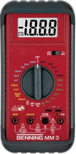 Hand-Multimeter digital Benning MM 3 Kalibriert nach: DAkkS CAT II 600 V, CAT III 300 V Anzeige (Counts): 2000