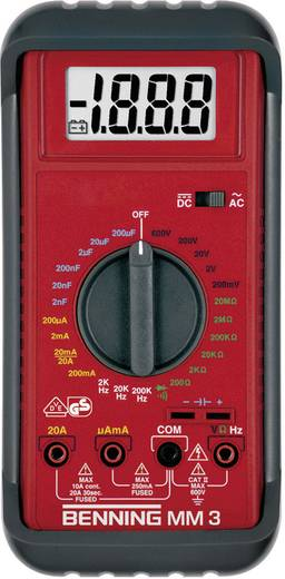 Hand-Multimeter digital Benning MM 3 Kalibriert nach: Werksstandard CAT II 600 V, CAT III 300 V Anzeige (Counts): 2000