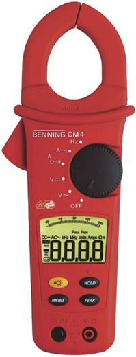 Benning CM 4 Stromzange, Hand-Multimeter digital Kalibriert nach: Werksstandard (ohne Zertifikat) CAT III 600 V Anzeige