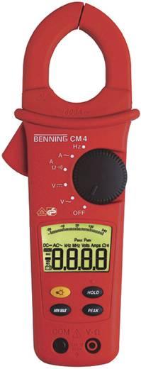 Stromzange, Hand-Multimeter digital Benning CM 4 Kalibriert nach: ISO CAT III 600 V Anzeige (Counts): 4000