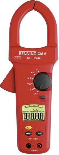Stromzange, Hand-Multimeter digital Benning CM 6 Kalibriert nach: ISO CAT IV 600 V Anzeige (Counts): 4000