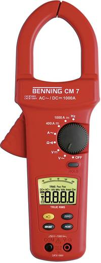 Benning CM 7 Stromzange, Hand-Multimeter digital Kalibriert nach: ISO CAT IV 600 V Anzeige (Counts): 4000