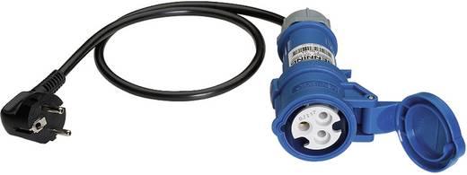 Messadapter [ Schutzkontakt-Stecker - CEE-Cara-Kupplung] Benning Meetadapter 32 A CEE - 3-polig Blau