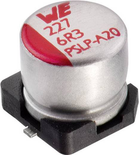 Elektrolyt-Kondensator SMD 330 µF 10 V 20 % (Ø x H) 6.3 mm x 7.7 mm Würth Elektronik WCAP-PSLP 875105245015 1 St.
