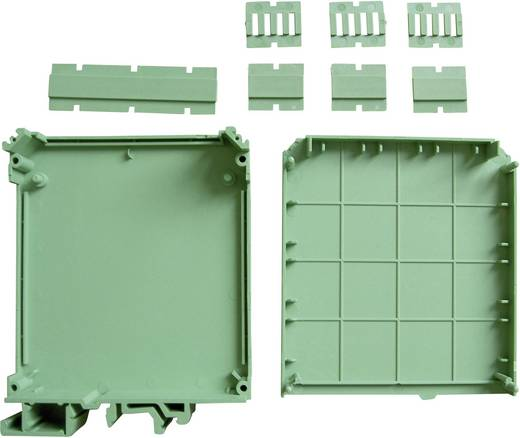 Hutschienen-Gehäuse 90 x 82 x 22.5 Polyamid 66 Grün Axxatronic CVB225/KIT 1 St.