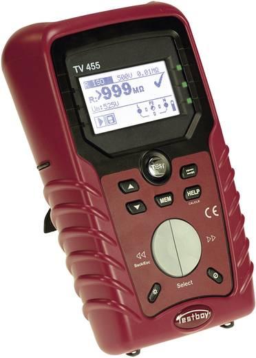 Testboy TV 455 Gerätetester EN 61326 · EN 61010-1 · EN 61010-031 · EN 61010-2-032 · EN 61557 · EN 61008 · EN 61009 · EN