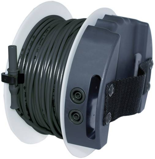Sicherheits-Messleitung [ Lamellenstecker 4 mm - Buchse 4 mm] 40 m Schwarz Benning BENNING TA 5