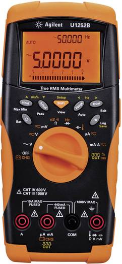 Keysight Technologies U1252B Hand-Multimeter digital Kalibriert nach: DAkkS Datenlogger CAT III 1000 V, CAT IV 600 V Anz