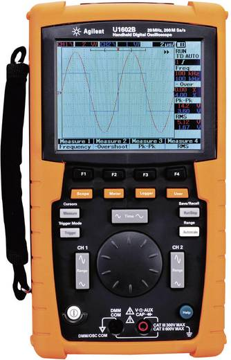 Hand-Oszilloskop (Scope-Meter) Keysight Technologies U1602B 20 MHz 2-Kanal 100 MSa/s 125 kpts 8 Bit Kalibriert nach DAkk