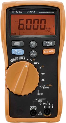 Hand-Multimeter digital Keysight Technologies U1231A Kalibriert nach: ISO CAT III 600 V Anzeige (Counts): 6000