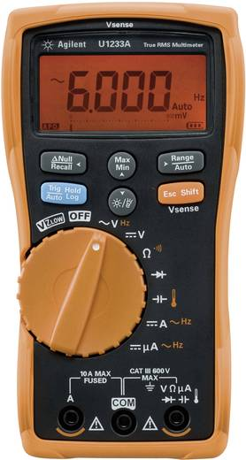 Keysight Technologies U1233A Hand-Multimeter digital Kalibriert nach: DAkkS CAT III 600 V Anzeige (Counts): 6000