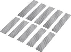 Reflexní lepicí pásky RTS25/100-SV, 100 mm x 25 mm, stříbrná, 10 ks