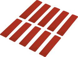 Reflexní lepicí pásky RTS25/100-RD, 100 mm x 25 mm, červená, 10 ks