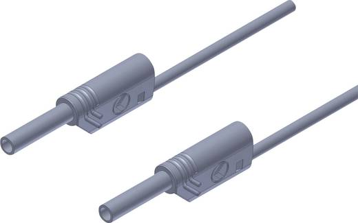 SKS Hirschmann MVL S 100/1 Au Sicherheits-Messleitung [Lamellenstecker 2 mm - Lamellenstecker 2 mm] 1 m Grau