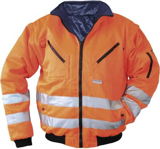 ELDEE 40897 4 in 1 Warnschutz-Pilotenjacke 4 in 1 Größe=L Leucht-Orange, Dunkel-Blau