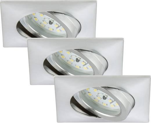 Briloner 7210-039 LED-Einbauleuchte 3er Set 15 W Warm-Weiß Aluminium