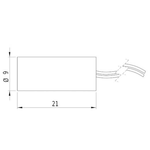 Lasermodul Punkt Rot 1 mW Picotronic DI650-1-3(9x21)-F1000-AP