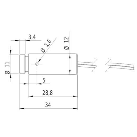Lasermodul Punkt Rot 0.4 mW Picotronic DD635-0.4-3(12x34)