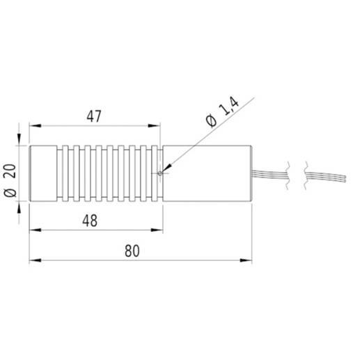 Lasermodul Kreuzlinie Grün 10 mW Picotronic CA532-10-3(20x80)