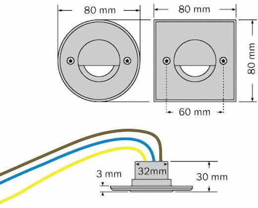 LED-Außeneinbauleuchte 3 W dot-spot side-light 11101.830.00.01 Aluminium