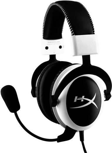 Gaming Headset schnurgebunden HyperX Cloud Over Ear Weiß/Schwarz