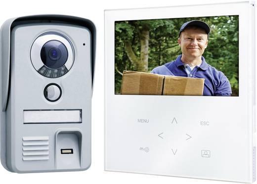 Video-Türsprechanlage Kabelgebunden Komplett-Set Smartwares VD71F SW 1 Familienhaus Aluminium, Weiß