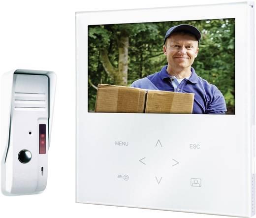 Smartwares VD71 SW Video-Türsprechanlage Kabelgebunden Komplett-Set 1 Familienhaus Weiß