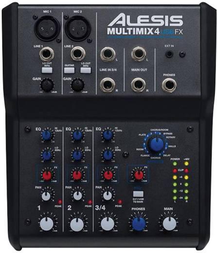 Konsolen-Mischpult Alesis MultiMix 4 USB FX Anzahl Kanäle:6 USB-Anschluss