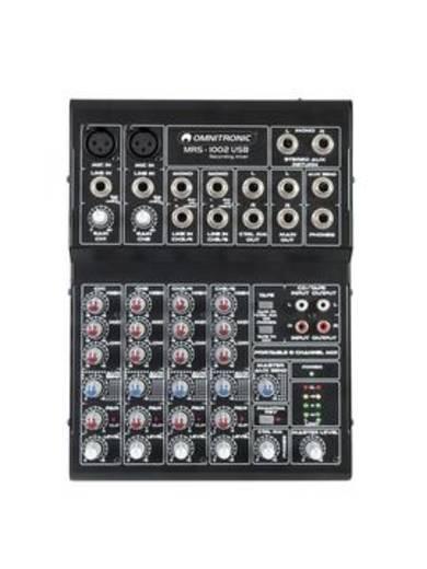Konsolen-Mischpult Omnitronic MRS-1002 Anzahl Kanäle:4 USB-Anschluss