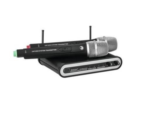 Hand Funkmikrofon-Set Omnitronic UHF-202 Übertragungsart:Funk