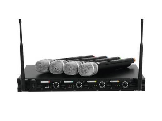 Funkmikrofon-Set Omnitronic UHF-204 Übertragungsart:Funk