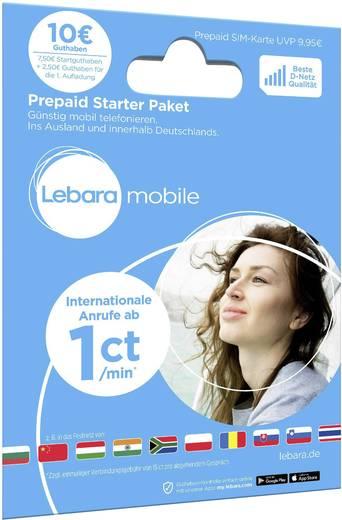 Lebara Starterpaket Prepaid-Karte ohne Vertragsbindung