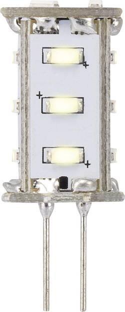 LED Sygonix G4, 0.8 W = 5 W, 33 mm, teplá bílá, A, 1 ks